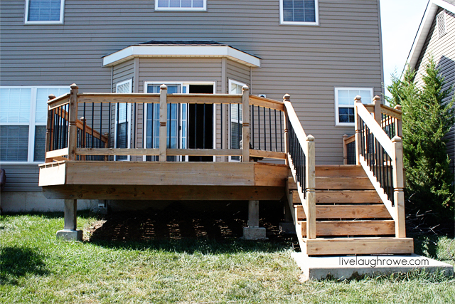 Power Washed Deck