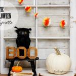 Rustic Halloween Vignette