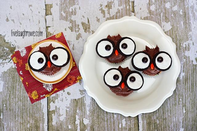Super Easy Edible Owl Cupcakes