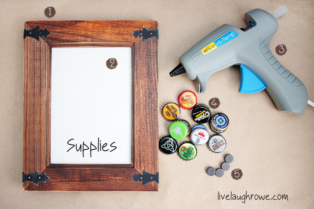 DIY Bottle Cap Magnetic Board