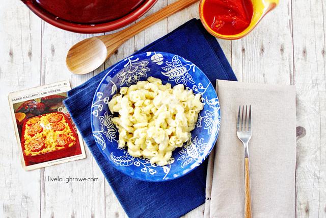 dinner, macaroni and cheese