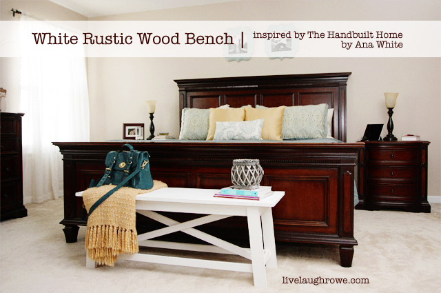 White Rustic Wood Bench Painted With Annie Sloan Chalk Paint At Livelaughrowe
