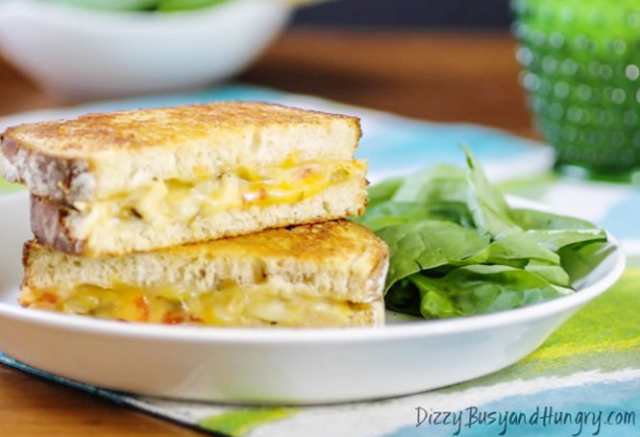parmesan crusted grilled chicken and cheese-