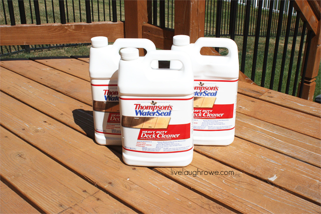 prepping for deck makeover. thompson's deck cleaner