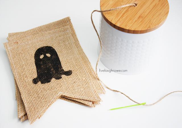 string on twine using yarn needle