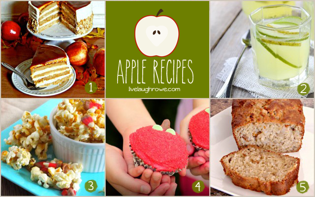 Apple Recipe Features with livelaughrowe.com