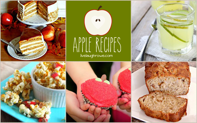 Apple Recipes with livelaughrowe.com