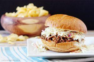 Mouthwatering BBQ Carnitas Pork Sandwich with livelaughrowe.com