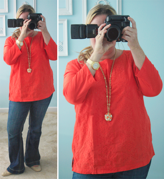 Coral and Gold with livelaughrowe.com #wiww