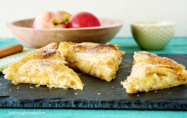 Delicious Apple and Cheese Danish with livelaughrowe.com