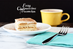 Delicious and Easy Cappuccino Tiramisu with livelaughrowe.com #CupOfKaffe #shop #cbias