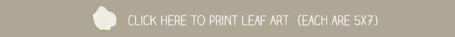 Print Leaf Printable