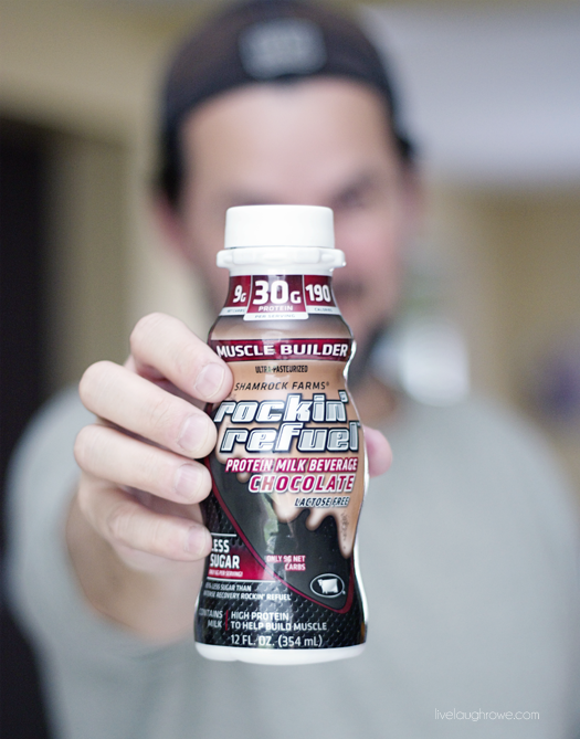 Rockin' Refuel, the only protein drink that boasts naturally occurring electrolytes. More details at livelaughrowe.com