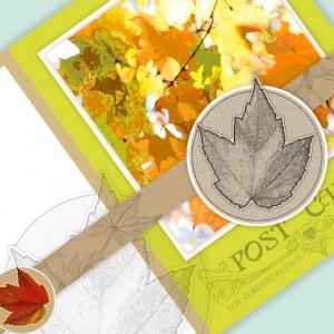 Maple Leaves Printable Notecard | Maddalee™