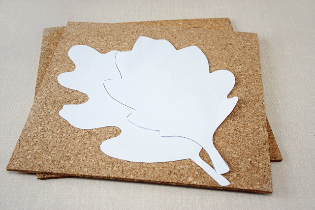 supplies for leaf cork trivets copy