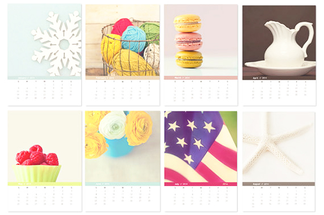 2014 Desktop Calendar with easle