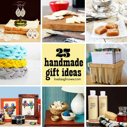 25 Fabulous and Affordable Handmade Gift Ideas with livelaughrowe.com