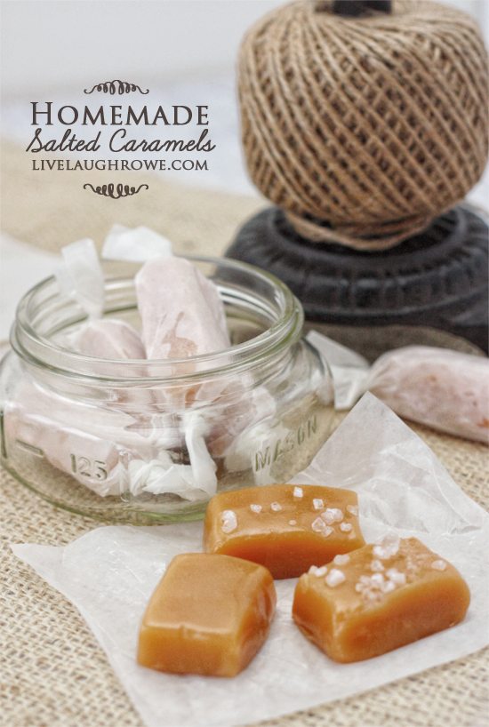 A perfect sweet treat! Homemade Salted Caramels with livelaughrowe.com