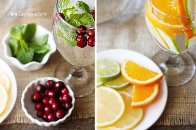 Allow your guest to mix their own flavored water combinations.