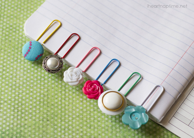 Button Bookmarks via iheartnaptime.net