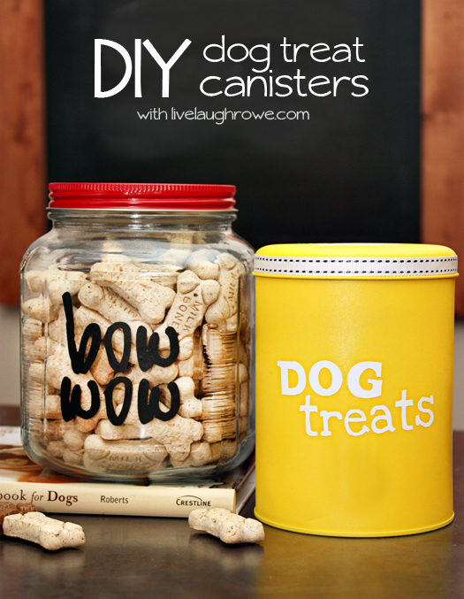 A few fun ways to store dog treats on a budget with livelaughrowe.com