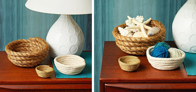 DIY Rope Bowls via Ladies Home Journal