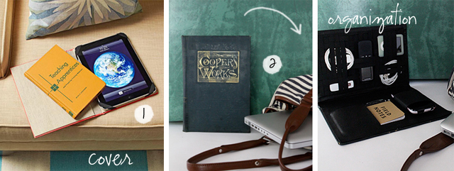 DIY Vintage Ipad Cover and Storage