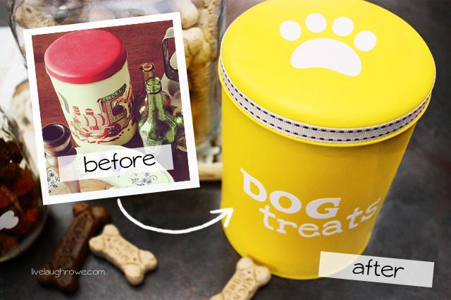 Dog Treat Canister makeover