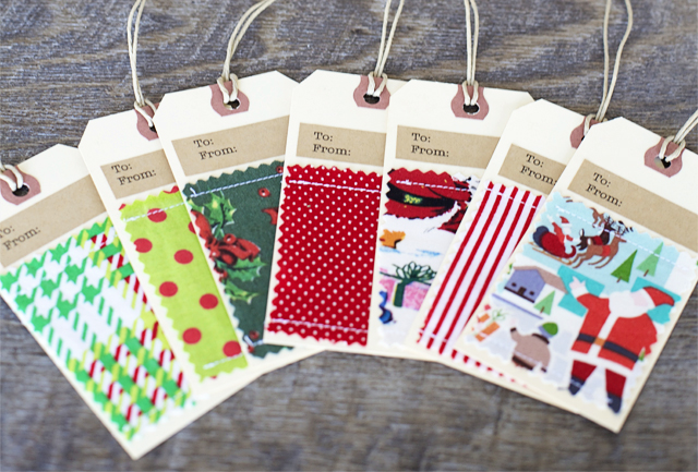 Fabric Embellished Gift Tags at House 129
