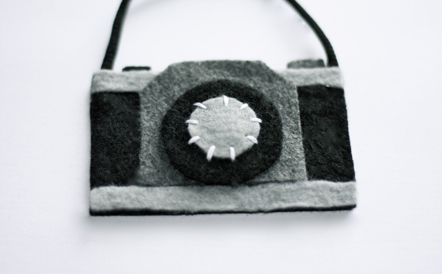 Felt Camera Ornament from House 129
