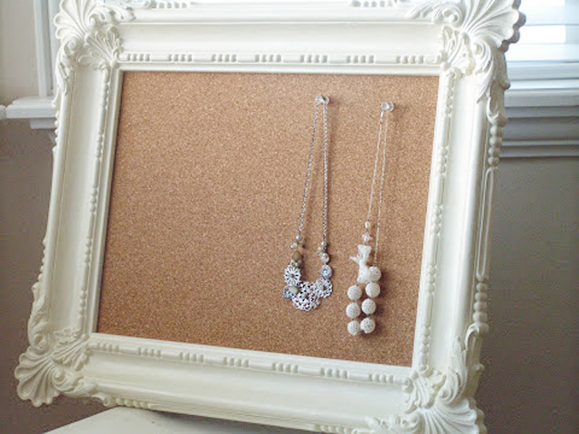 Framed Cork Boards via Tea Rose Home