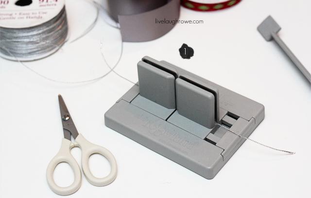 How to make a Mini Scrunchy Bow using the Bowdabra at livelaughrowe.com