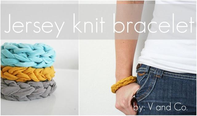 Jersey Knit Bracelet from VanessaChristenson.com