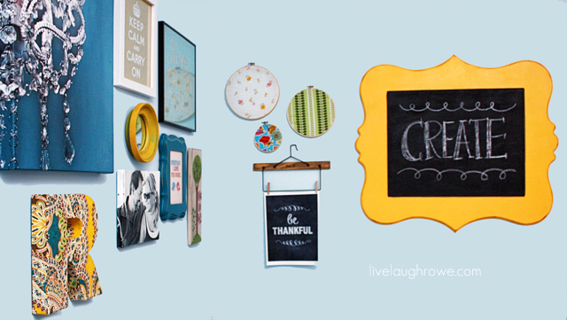 DIY Chalkboard with Cut It Out Frames at livelaughrowe.com