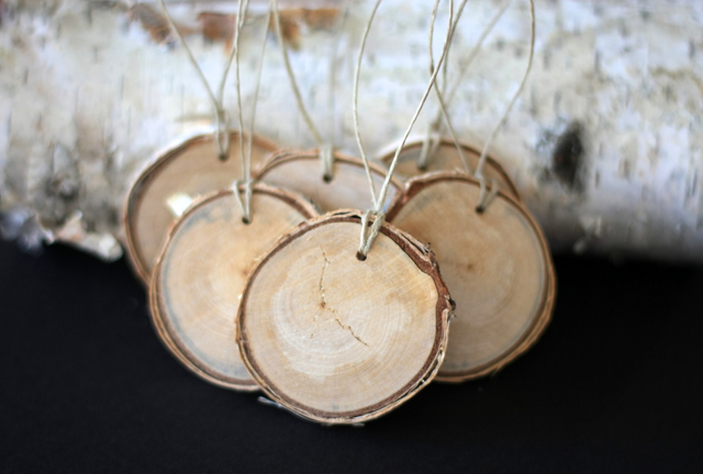 Small Birch Wood Ornaments from House 129