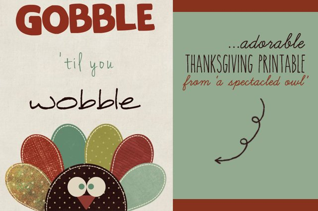 Thanksgiving Printable from A Spectacled Owl