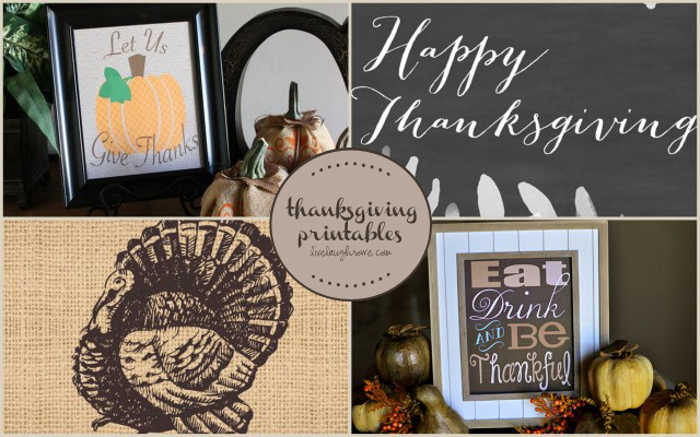 Thanksgiving Printable Features at livelaughrowe.com