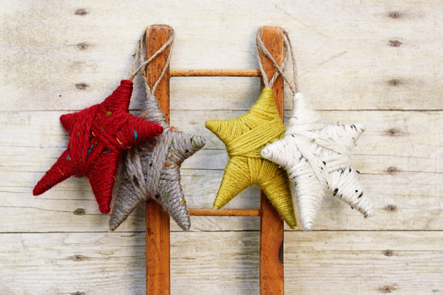 Yarn Wrapped Stars at House 129