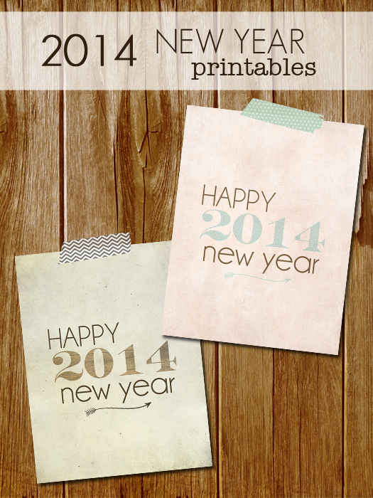 2014 Happy New Year Printables with livelaughrowe.com