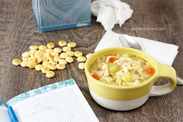 A good word search, a box of Kleenex and Homemade Chicken Noodle Soup. Yes, please! livelaughrowe.com