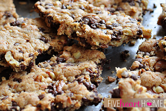 Chocolate Chip Cookie Brittle from Five Heart Home