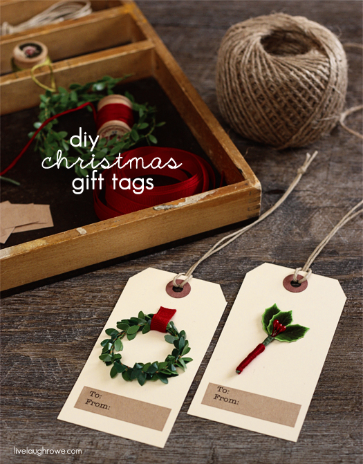 DIY Christmas Gift Tags - Live Laugh Rowe