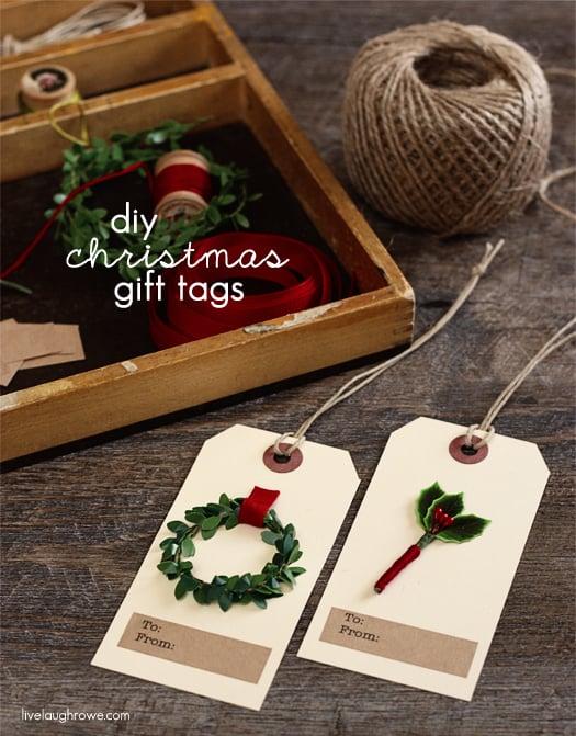 DIY Christmas Gift Tags - Live Laugh Rowe