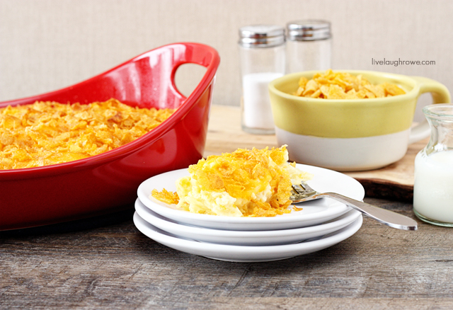 Creamy Hash Brown Casserole with livelaughrowe.com