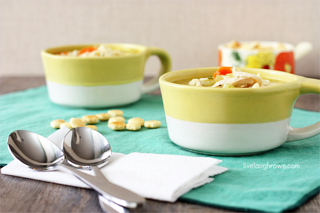 Homemade Chicken Noodle Soup with livelaughrowe.com