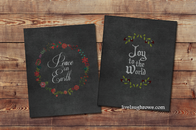 chalkboard christmas printables live laugh rowe