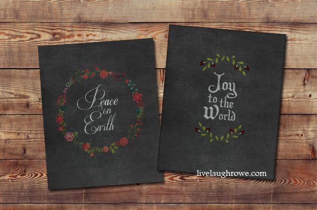 Fabulous Christmas Chalkboard Printables with livelaughrowe.com