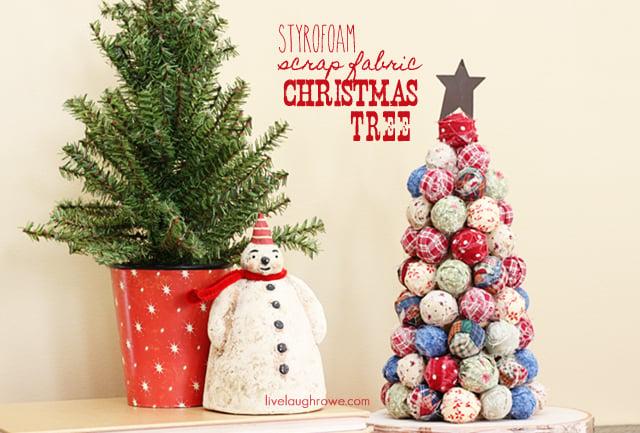 Fabulous and Festive Scrap Fabric Christmas Tree with livelaughrowe.com