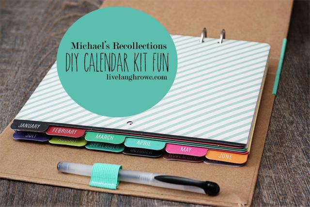 Calendar Kit Ideas : Diy calendar kit giftsatmichaels livelaughrowe
