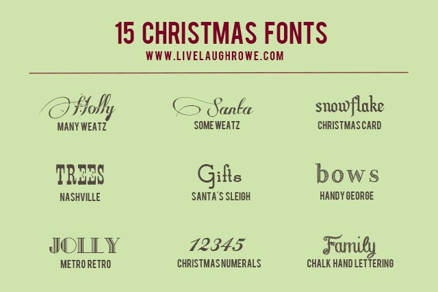 Free Christmas Fonts.15 Free Christmas Fonts Live Laugh Rowe